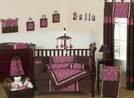 Pink Brown Crib Bedding Pink And Brown Baby Changing Pad Cover By Sweet Jojo