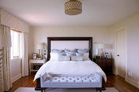 Traditional Bedroom Chairs - bedrooms master bedroom with white bed and white tufted bench