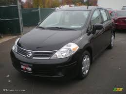 nissan versa black 2008 super black nissan versa 1 8 s hatchback 8401797 gtcarlot