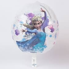 frozen balloons disney frozen orbz see through helium balloon deflated card factory