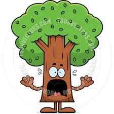 cartoon tree scared by cory thoman toon vectors eps 38876