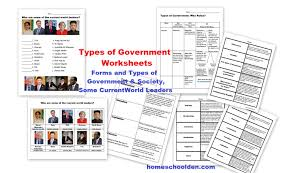 types of governments worksheets u2013 world leaders currently free