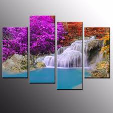 compare prices on waterfall canvas wall art online shopping buy