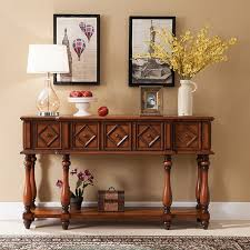 long side table with drawers tv console table baroque side table 3 drawer table brown hotel lobby