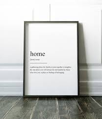 Items Similar To Art Print - home definition print wall art print quote print definition