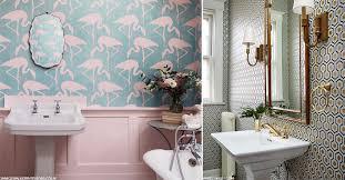 wallpaper designs for bathrooms statement wallpaper for a bold bathroom sheerluxe com