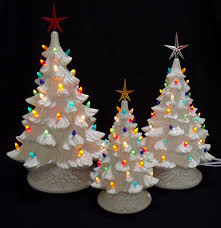 silver bells white ceramic christmas tree collection with music