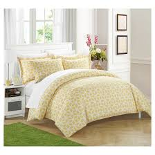 lovey geometric diamond printed reversible duvet cover set chic