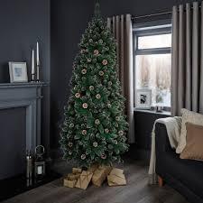 7ft cannock pre decorated christmas tree departments diy at b u0026q