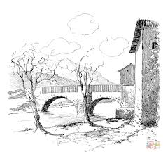 old bridge coloring page free printable coloring pages