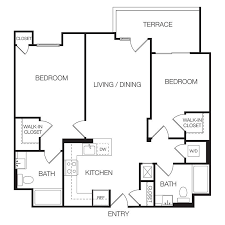 Floor Plan Of 2 Bedroom Flat Apartments For Rent In Hollywood Floor Plan 26 Eastown Apartments