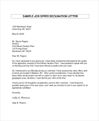 job offer letter sample 8 examples in word pdf