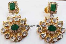 pachi earrings parrot work pachi set earrings jewellery designs