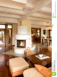 Modern Living Room With Fireplace Images Stylish Modern Living Room With Fireplace Royalty Free Stock Photo