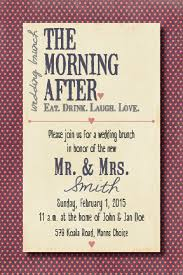 morning after wedding brunch invitations morning after wedding brunch invitation by beecatcherdesigns