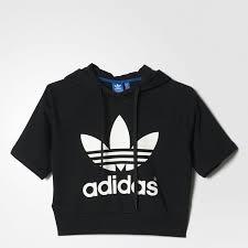 adidas crop top sweater 18 best hoodie crop tops images on crop top hoodie