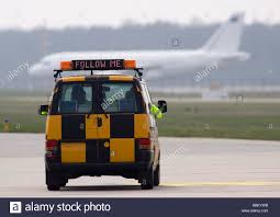 Karlsruhe Baden Baden Airport Vehicle Follow Me 60 Years Nato The Arrival Of The