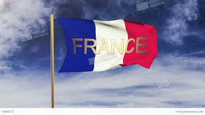 The France Flag France Flag With Title France Waving In The Wind Looping Sun