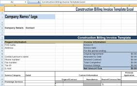 get construction billing invoice template excel xls free excel