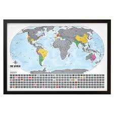 Where I Ve Been Map Scratch Off World Map Platinum Landmass