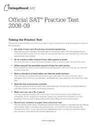 official sat practice test 2008 2009 general relativity