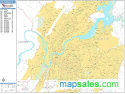 map of chattanooga tn chattanooga tennessee zip code wall map basic style by marketmaps