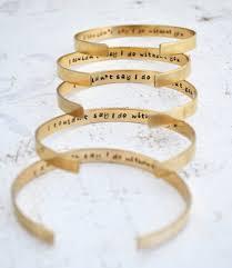 personalized wedding jewelry bridesmaid gift 5 brass cuff bracelets personalized bridesmaid