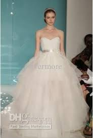 2013 reem acra romaticbeaded bridal ball gown long sweetheart bow