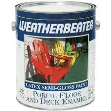 weatherbeater porch u0026 floor semi gloss paint 1 gal