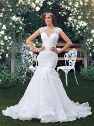 buy wedding dresses online white mermaid wedding dresses plus size scalloped lace
