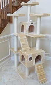 amazon com cat tree beige cat tower pet supplies
