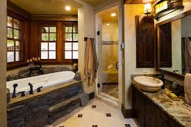 big sky log cabin floor plan foxtail residence big sky log cabin master bath teton heritage