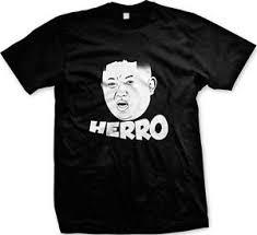 Meme Gag - herro kim jong un hello funny face graphic meme gag gift men s t