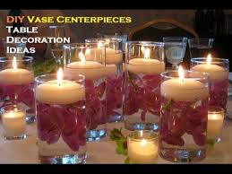 diy centerpiece ideas for tables banquet candle decoration