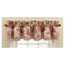 shop waverly home classics 14 in garnet cotton rod pocket valance