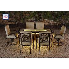 Lazy Boy Dining Room Furniture La Z Boy Outdoor Halley 7pc Dining Set With Lighted Table Limited