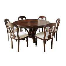 Admiralty Round Mahogany Dining Table With Inlay Dining Room - Chippendale dining room furniture