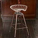 amazon com charlie industrial metal design tractor seat bar stool