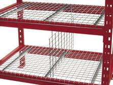 hanging dividers wire decking pallet rack rivet shelving