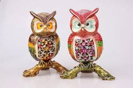 discount metal owl ornaments 2017 metal owl ornaments on sale at