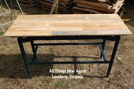 How To Build A Table Top Diy Wood Pallet Tabletop All Things New Again