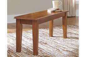 Wood Dining Table With Bench And Chairs Dining Benches Ashley Furniture Homestore