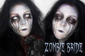 crazy zombie bride halloween makeup youtube