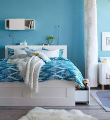 Bedroom Designs Ikea Bedroom Blue Ikea Bedroom With Blue And White Bed And Small