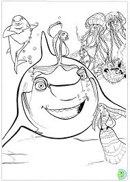 shark tale coloring colouring pages free printable coloring