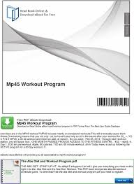 free workout schedule mp45 workout program download or read online ebook mp45 workout