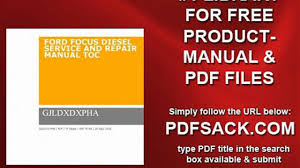 ford focus diesel service and repair manual toc video dailymotion