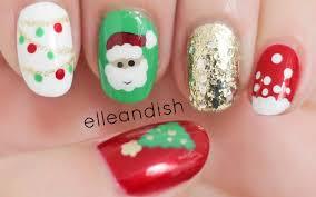 nail art christmas nail art designs easy nails freehand youtube