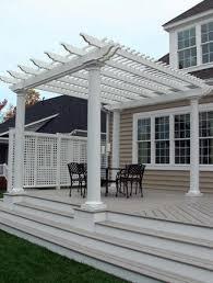 different types of outdoor pergola roof materials dengarden