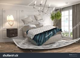 Bed In Living Room Zero Gravity Bed Hovering Living Room Stock Illustration 395072314